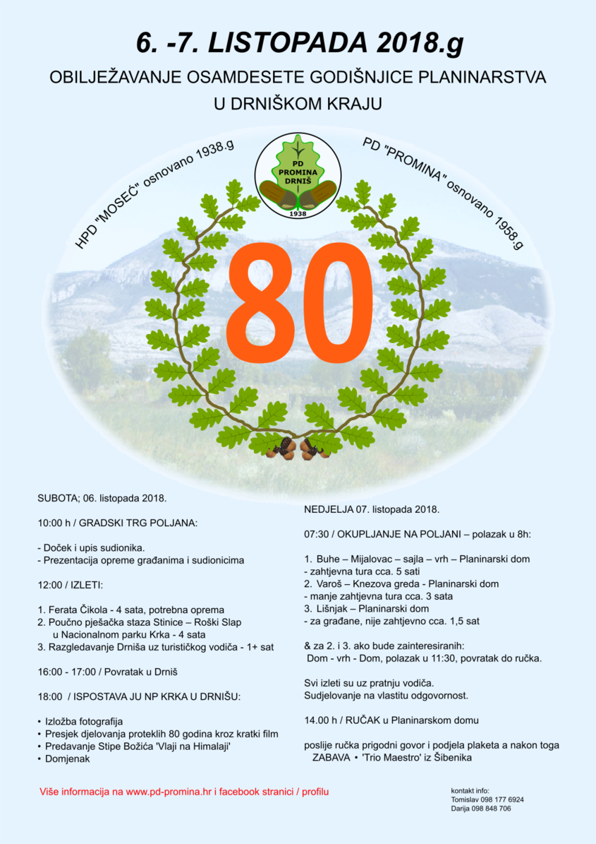80. GODIŠNJICA PLANINARSTVA